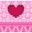 Heart love frame background vector image vector image