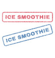 ice smoothie textile stamps vector image vector image