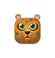 Leopard Square Icon vector image vector image