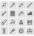 line construction icon set vector image