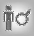 male sign pencil sketch vector image vector image
