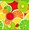 mixed fruit seamless pattern background vector image vector image