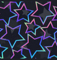 neon star geometric seamless pattern vector image vector image