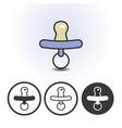 newborn bapacifier icon vector image