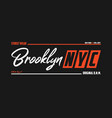 nyc brooklyn athletic t-shirt design new york vector image vector image