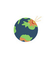 planet earth colored icon element of space signs vector image vector image