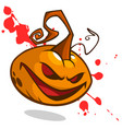 pumpkin on bloody background cartoon vector image