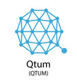 qtum cryptocurrency symbol vector image vector image