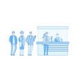 queue at box office at station waiting line cash vector image vector image