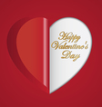 Red paper hearts folding vector image vector image