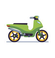 retro motorbike delivery old scooter collectible vector image