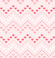Retro seamless geometric pattern Color hearts and vector image vector image