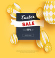 sale on easter holidays realistic three vector image vector image