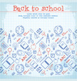 school elements background vector image
