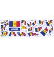 set national flag andorra in vector image vector image