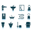 Set of bathroom icon vector image vector image