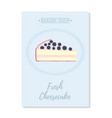 set of pastry posterbanner for sale of cheesecake vector image vector image