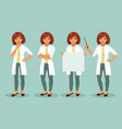 set of woman doctor vector image