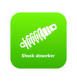 shock absorber icon green vector image vector image