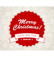 Simple vintage retro Christmas card vector image vector image