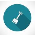 Snow shovel icon vector image vector image