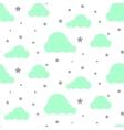 Starlight night sky seamless pattern vector image vector image