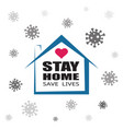 stay at home coronavirus defensive campaign vector image