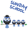 SUNDAY SCHOOL PERCH vector image vector image