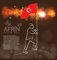turkish victory on afrin translation meaining is vector image vector image