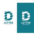 unique letter d logo design template vector image vector image
