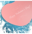 Valentines Day big pink festive Heart Postard vector image
