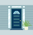 vintage house doorway decorated with stained glass vector image vector image