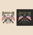 vintage military patriotic colorful label vector image vector image