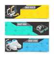 Wearable technology banners vector image