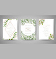 wedding invitation floral invite rsvp card design vector image vector image