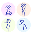 Yoga line silhouette vector | Price: 1 Credit (USD $1)