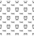 Alarm Clock Seamless Pattern vector image