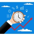 Time management modern in flat vector image