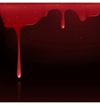 Dripping Red Blood vector image