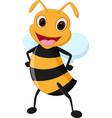 happy bee cartoon vector image
