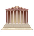 ancient building with ionic columns vector image