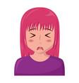 anime girl manga portrait character vector image