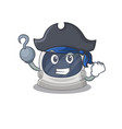 astronaut helmet as pirate with hook hand and hat vector image vector image