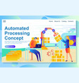 automated process from management to production vector image vector image