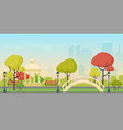 autumn city public park on modern city vector image vector image