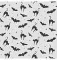 black and white pattern cat vector image