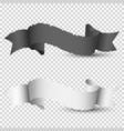 black and white vintage paper ribbon banners vector image vector image