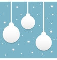 Blue Christmas background vector image vector image