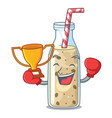 boxing winner sweet banana smoothie isolated on vector image vector image