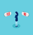 businesswoman in front buttons vector image
